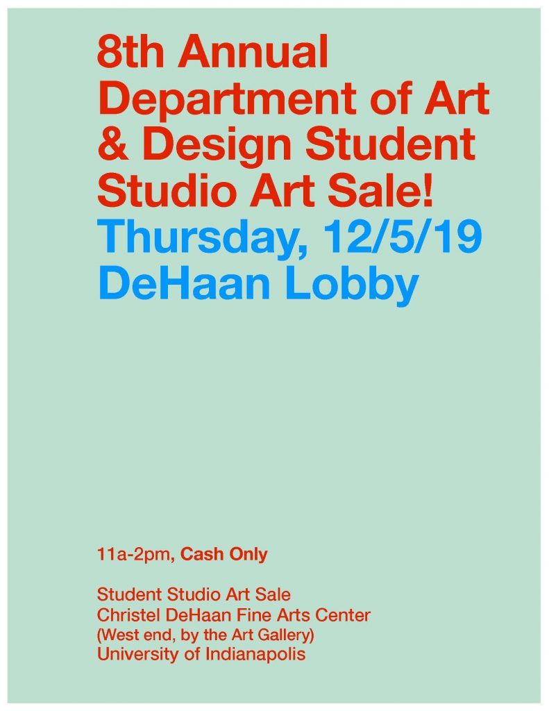 December 2019 studio art sale