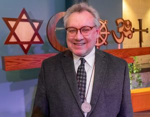 Dr. Michael Cartwright received the 2020 Jerry Israel Interfaith Service Award.