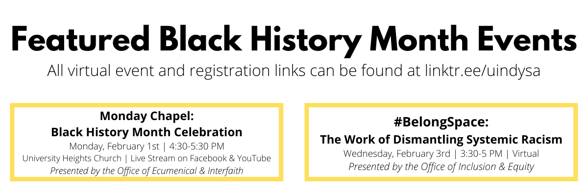 Black History Month at UIndy - 2021 featured events