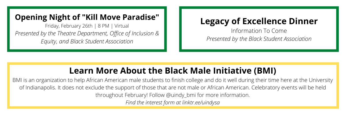 BHM at UIndy - 2021 events final